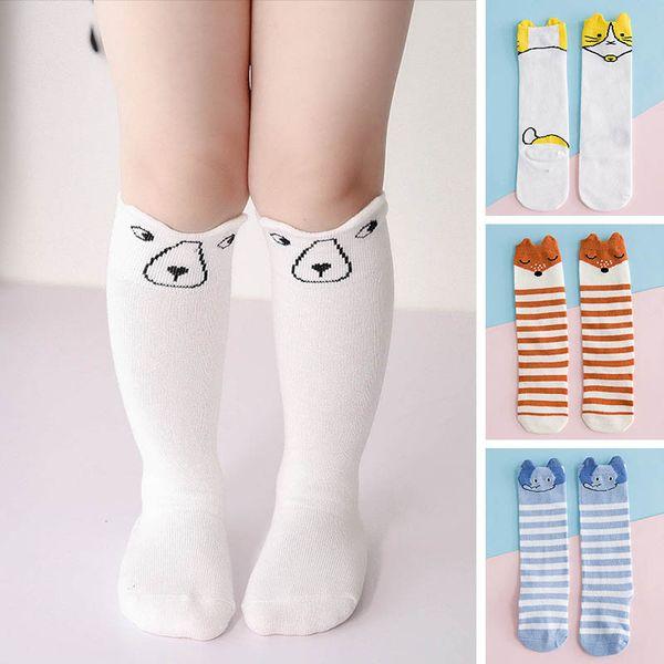 1cc539097c9b84 Cute Cartoon Calzini per bambini stripe Calzini per bambini in cotone  bambini Knit Knee High Socks