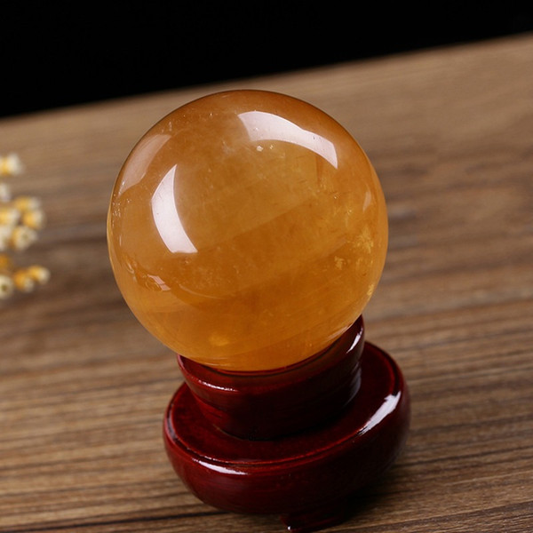 Good Fortune Balls Natural Topaz Ball Transshipment Beads Icelandic Stone Crystal Ball not have holder Home Furnishing Decoration 20hy4 k1