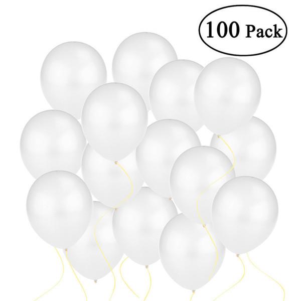 100pcs 12 pulgadas globos de colores brillantes Dot Latex Helio Globos Bebé Niño Juguetes Latex Globos metálicos (blanco) T8190621