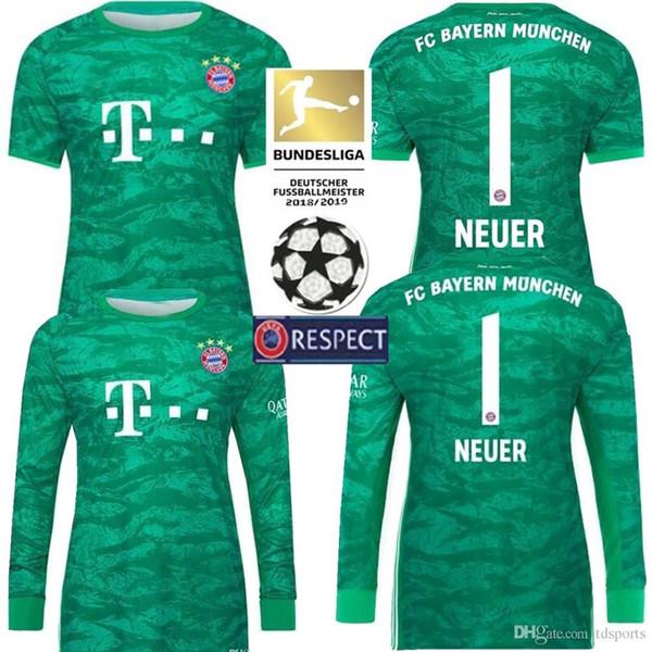 Camisa Lewandowski 2020 Bayern Jersey Larga Uniforme F��tbol 20 Home James 19 Manga Portero 2019 Hombres Por De Soccer Neuer Munich