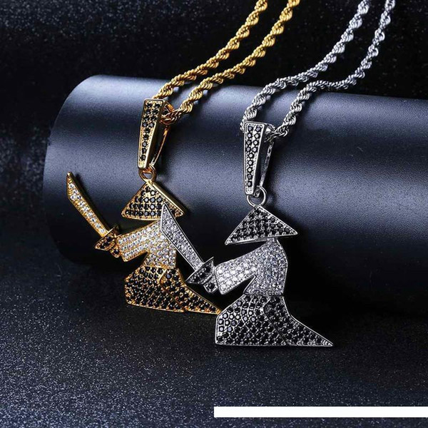 Necklaces /& Pendants 4 Alloy Pendant Necklaces Iced Out Rhinestone Long Chain Silver Gold Necklace Women Men Hip Hop Accessories