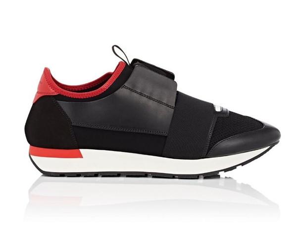 New Arrial Toe Toe Man Casual Chaussures Femme Baskets De Mode Patchwork Rouge Argent Noir Mesh Trainer Course Runner Chaussures Avec Boîte US5-12