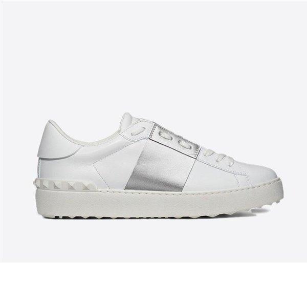 Новые прибывающие Дизайнерские Белые Модные Мужские Женские Кожаные Случайные Открытые Низкие Кроссовки С Коробкой 6dfsgs