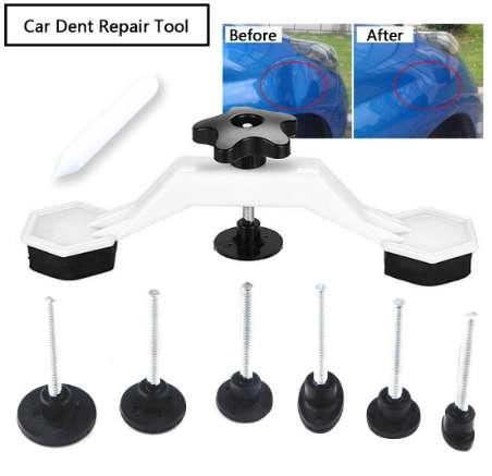 Repare el kit de herramientas de reparación de abolladuras 8 unids Instrumento sin pintura Auto Car Body Damage Pulling Bridge Removing Pegamento Herramienta de la herramienta Herramienta de mano Conjunto recientemente