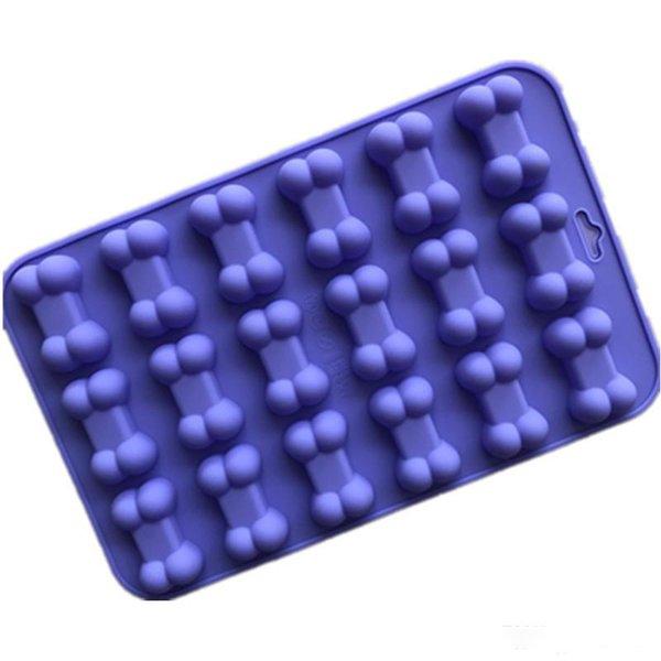Popolare muffa del cioccolato del silicone High Grade 18 in 1 Bone Cake Designs Stampi Ghiaccio Stampi per la cottura Strumenti termoresistente