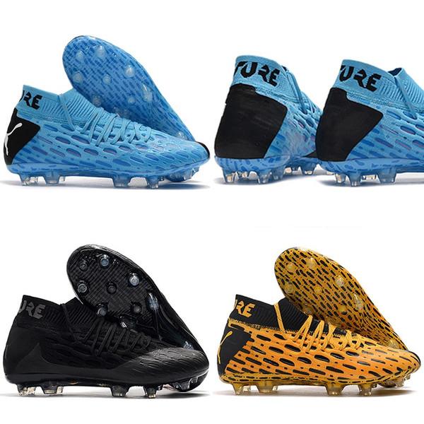 2020 nuovi Mens di Futuro 5,1 Netfit FG Scarpe da calcio evoKNIT Pro superiore Nero Blu morbida sottile canguro Pelle Calcio Tacchetti Formato dei pattini 39-45