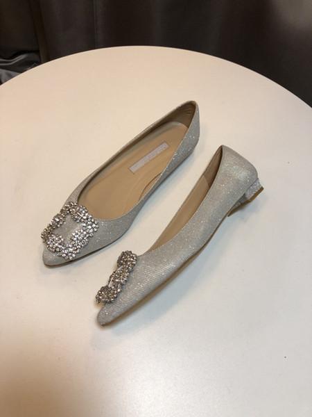 2020 mercerisé denim véritable argent chaussures de mariage strass talons hauts women039, de chaussures de mariée mariage chaussures yc19031112