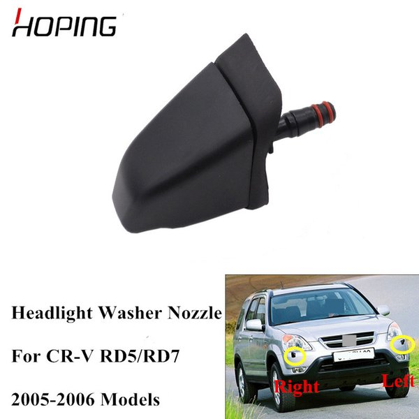 Hoping 2PCS Headlight Washer Nozzle For HONDA CR-V CRV 2005 2006 RD5 RD7 Headlight Headlamp Cleaning Water Spray Jet