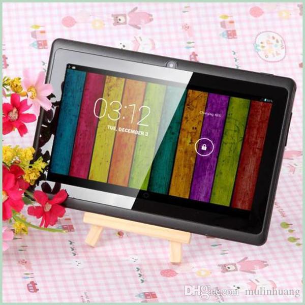 Q8 7-Zoll-Tablet-PC A33 Quad Core Allwinner Android 4.4 KitKat Kapazitive 1,5 GHz 512 MB RAM 4 GB ROM WIFI Dual-Kamera Taschenlampe Q88 MQ50