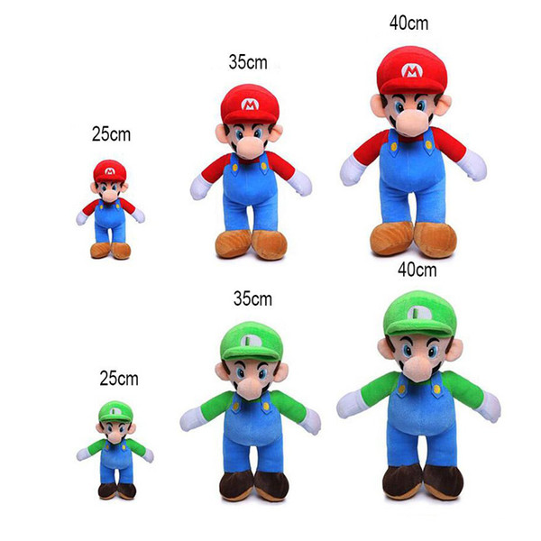 best selling 25cm 35cm 40cm Super Mario Bros Plush Toy Mario And Luigi Stuffed Animals Plush Toys For Gifts