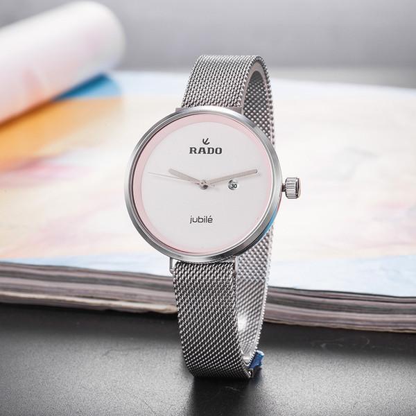Новая мода часы для женщин лучший бренд класса люкс кварцевые часы с механизмом высокого качества Водонепроницаемые женские платья часы Розовое золото