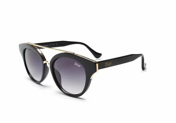 Lunettes de soleil populaires de luxe Femmes Brand2347 Place d'été pleine FrameStyle Top qualité Protection UV couleurs mélangées Come