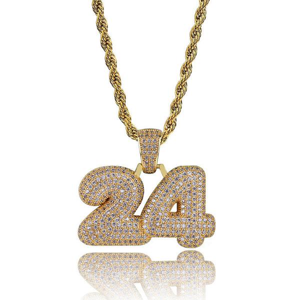 Oro con catena di corda da 20 pollici