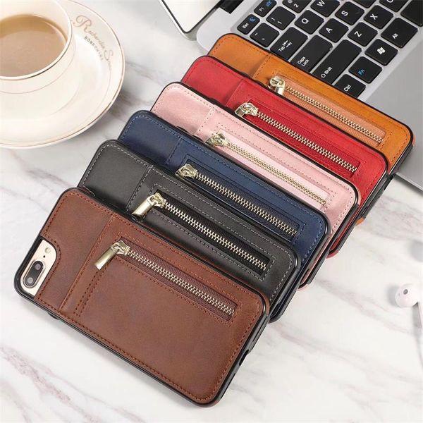 Für iphone xs max xr 8 7 6 plus brieftasche handy case mit reißverschluss für pu ledertaschen brieftasche rückseitige abdeckung tasche mit kartensteckplatz bilderrahmen
