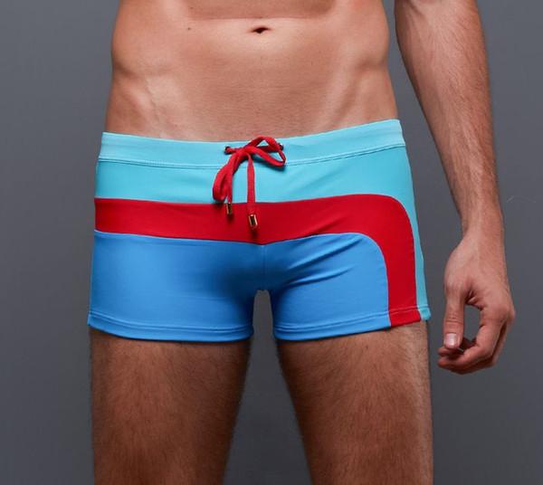 60549d906c FACAOCI 2019 New Mens Style Lace up Swimming Underwear Speedo Summer Strips  Trunks Outdoors Swimwear Nylon