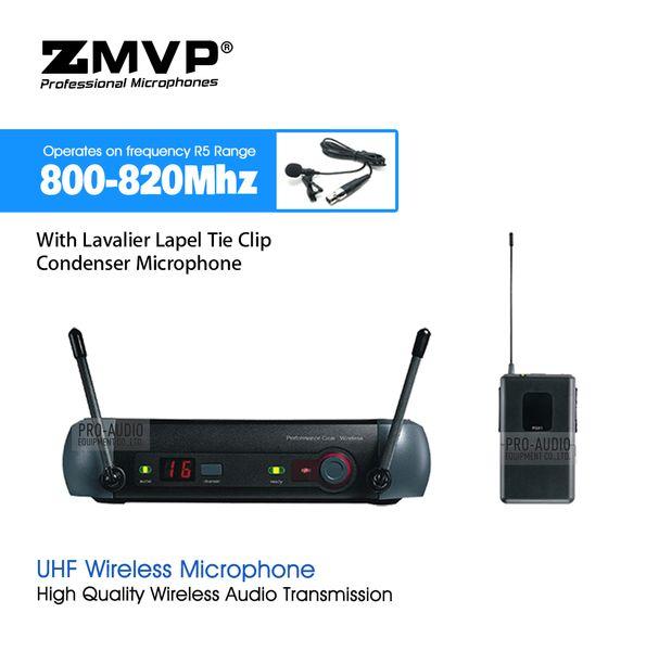 ZMVP PGX14 UHF Professional Karaoke Wireless Microphone System with PGX Bodypack Transmitter Lapel Lavalier Clip Mic 800-820Mhz