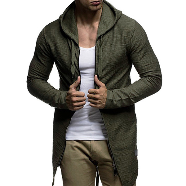Mens Autumn Winter Casual Camouflage Cardigan Fit Long Sleeve Hoodie Top Coats