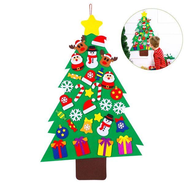31pcs/set Santa's Tree Magic Jigsaw Puzzle Kid's Xmas Creative Gift DIY Felt Decoration Toy Christmas Decorations for Home