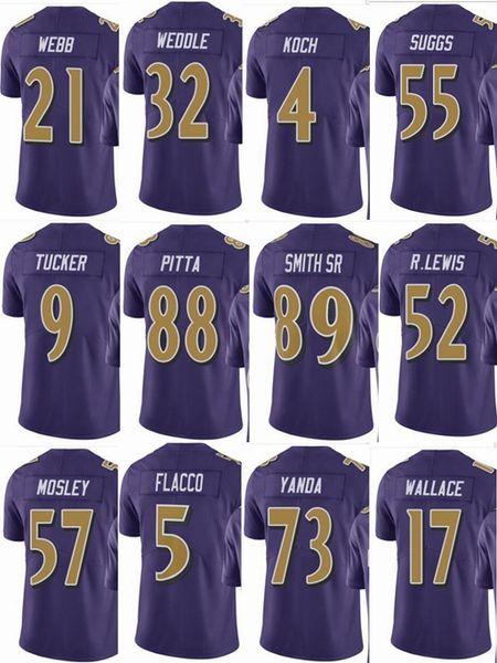 41528efa4 RAVENS Baltimore  57 CJ Mosley  52 Ray Lewis Mens  55 Terrell Suggs  9  Justin Tucker  5 Men Women Youth Color Rush Elite Football Jerseys