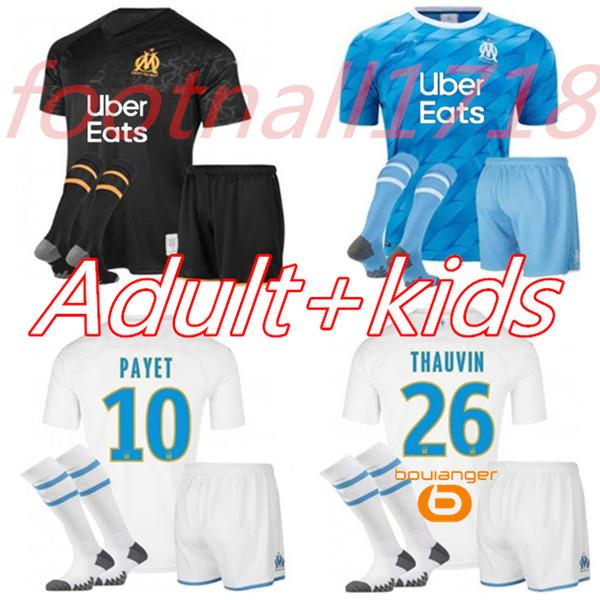 Kit uomo bambino 19 20 Olympique OM Marseille maglie da calcio 2019 Marsiglia maglia da calcio PAYET Camisetas PAYET BALOTELLI maglia da calcio