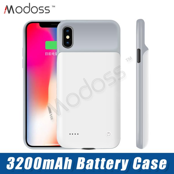 ZZYD External Power Bank Charger Case 3200 mAh Portable Phone Backup Battery Case With Retail Package For iPhone X