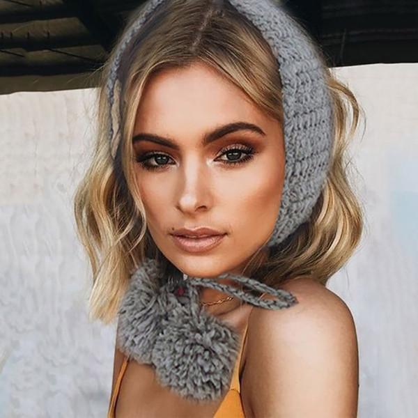2 1 Eşarp Kış kulaklığı Taklit 2019 Peluş Kulaklık Sevimli INS Moda Earmuffs Kış Sonbahar Kulak Isıtıcı # 20 orejeras calientes içinde