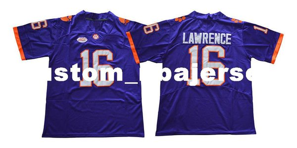 Cheap custom NEW Trevor Lawrence Jersey #16 Clemson Tigers Jersey Football jersey Stitched Customize any number name MEN WOMEN YOUTH XS-5XL