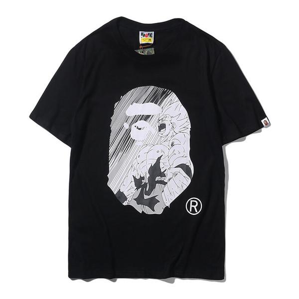 T-shirt à manches courtes en coton à manches courtes pour hommes de la marque été 2019