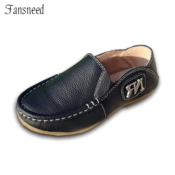 Children's shoes boys genuine leather Peas casual shoes spring and autumn England models new leather size 21-35
