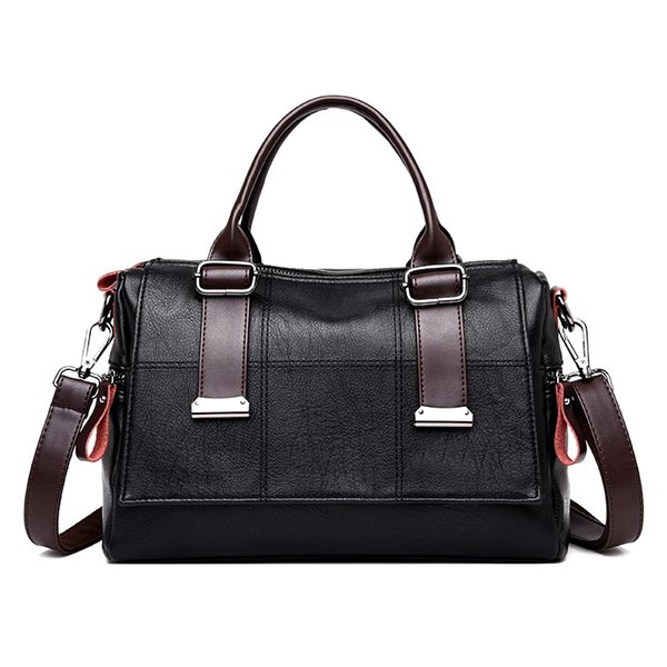 elegant women handbag plaid temperament female shoulder bag exquisite pu leather soft waterproof shaped