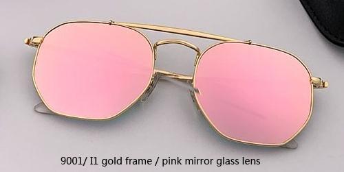 9001 / I1 الذهب / الوردي مرآة عدسة زجاجية