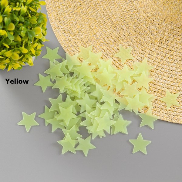 100 pcs/Set 3D stars glow in the dark Luminous Wall Stickers for Kids Room Home Decor Decal Wallpaper Decorative Special Festivel
