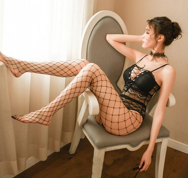 best selling Sexy lingerie women's sense of lace lace binding with see-through temptation crotch one-piece set temptation sexy lingerie lovely nifty