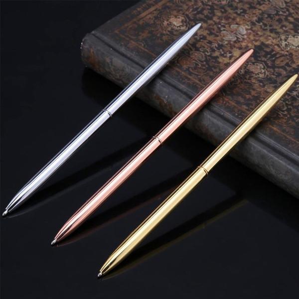 Útiles escolares Publicidad bolígrafo Bolígrafo delgado Firma Banco Oficina Hotel Suave Metal Negocio 3 colores