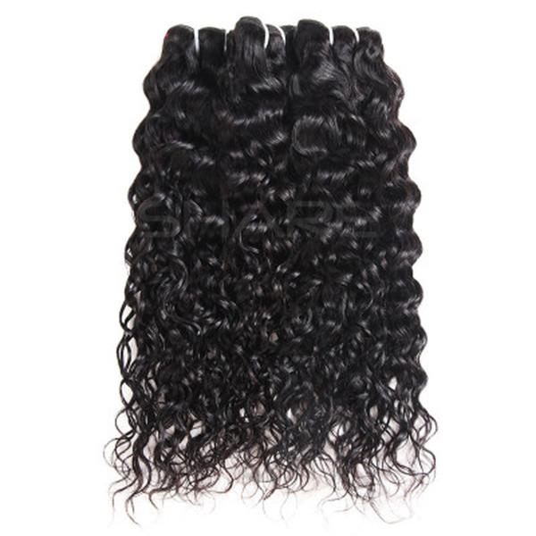 Brésilien Vague D'eau Trames De Cheveux Naturel Noir Non Transformé Primaire Remy Extensions De Cheveux Humains Vierge Cheveux Tissage À La Main