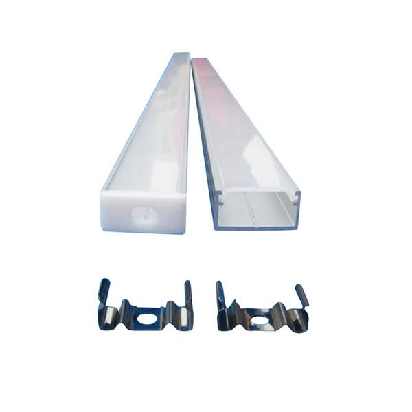 9x18mm U-förmige Aluminiumkanäle mit Diffusor, Endkappen und Montageklammern LED-Streifen-Kanäle für maximal 15mm breite LED-Streifen
