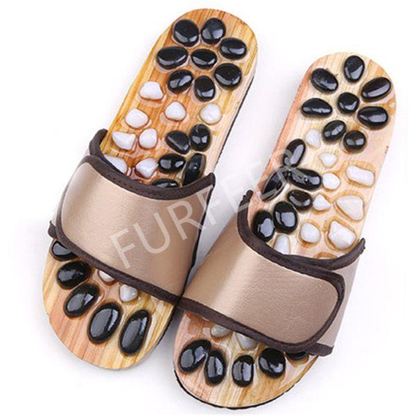Vendita calda-Pantofole magnetiche estive da uomo Salute interna Imitazione Giada Massaggi Scarpe Uomo Scivoli neri Sandali piatti da casa Infradito da esterno