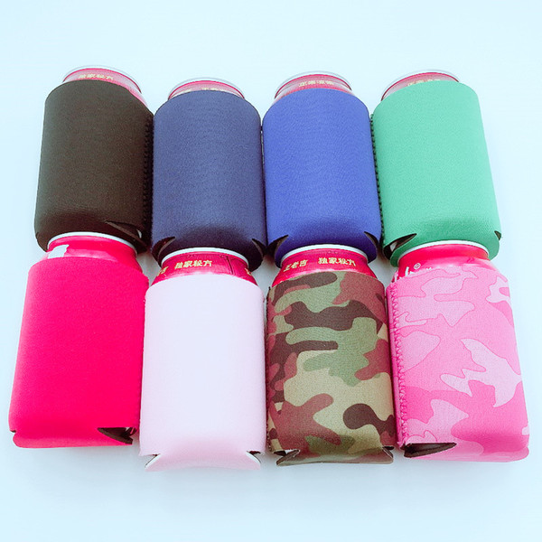 top popular Wholesale Many colors Blank Neoprene Foldable Stubby Holders Beer Cooler Bags For Wine Food Cans Cover LX1305 2019