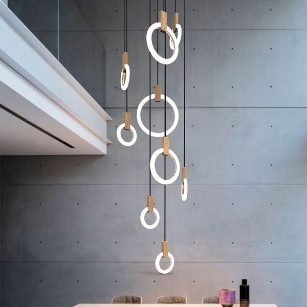 Großhandel Moderne Led Pendelleuchten Nordic Wohnzimmer Pendelleuchte  Schlafzimmer Leuchten Treppenbeleuchtung Neuheit Beleuchtung Loft  Hängeleuchten ...