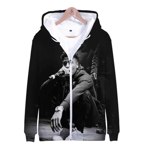 Großhandel 2019 Heißer Verkauf Blueface Zipper Jacke 3D Hoodies Sweatshirt Frauen Harajuku Blueface Hoodies Männer Plus Größe Für Männer Plus Größe