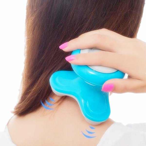 2019 Sıcak Mini Elektrikli Saplı Dalga Titreşimli Masaj USB Pil Tam Vücut Baş Boyun Geri Masaj Ultra-kompakt Hafif Taşınabilir