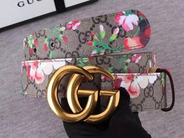 Erkek için yeni Tasarımcı Kemerleri Kemerler Tasarımcı Kemer Toka Gerçek Deri İş Kemerleri Kadın Çiçek altın toka kemer