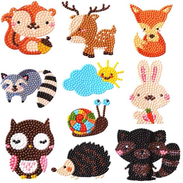 Fai da te mini-modello di diamante ricamo Cartoon Animal diamante pittura per bambini rotonda diamante Sticker per la Coppa della Rubrica bambini giocattoli