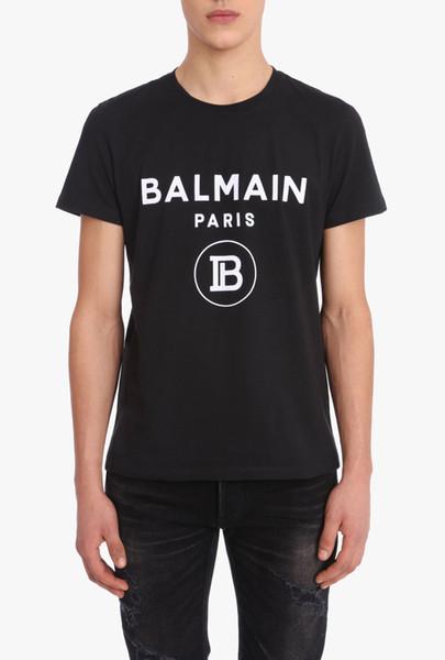 19ss imza lüks Paris moda erkek tişört gündelik erkek ve kadın giysileri saf pamuklu bluz monogrammed monogrammed