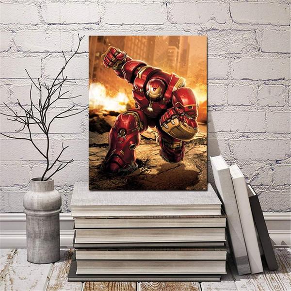 Moderne Wandkunst Malerei Geschenke Leinwand Iron Man Movie Poster Kunst Bild Gedruckt Wohnkultur für Wohnzimmer Kein Rahmen