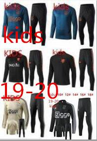KIDS 2019 Holanda treino de futebol 19 20 KIDS Ajax FC Holland jaqueta de jogging DOLBERG VAN DE BEEK treino de futebol Sportswear