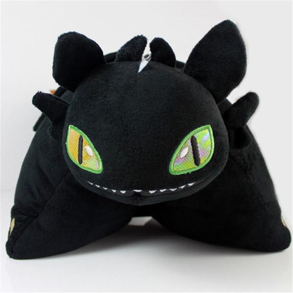 Cuscino farcito Night Fury 45 * 35cm Come addestrare il tuo drago Bambola peluche senza denti Cuscino Cuscino Regali per bambini Articoli novità CCA11375 10 pezzi