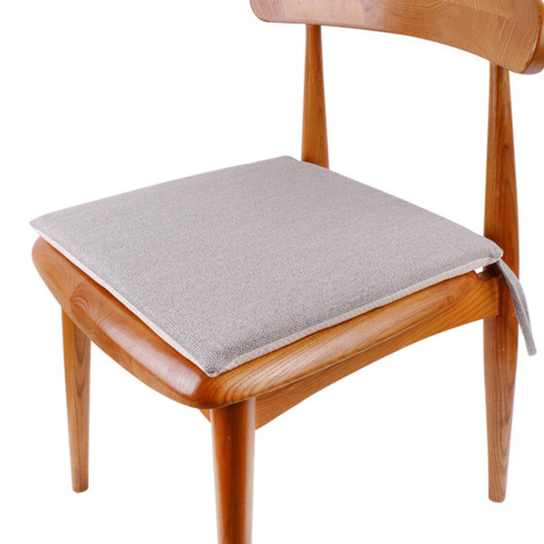 Remarkable 40X40Cm Garden Soft Solid Tie On Cotton And Linen Office Removable Chair Cushion Waterproof Patio Square Thickened Outdoor Pad Car Seat Lumbar Support Ibusinesslaw Wood Chair Design Ideas Ibusinesslaworg