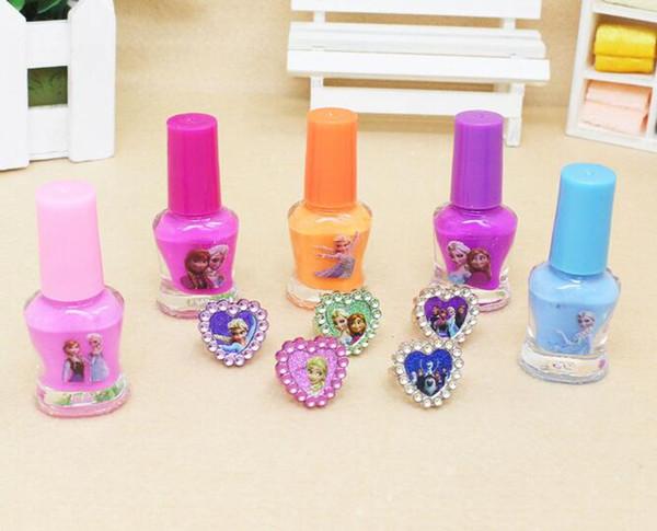 Tearing nail polish, color child nail polish, water soluble tear, transparent set, lasting and tasteless.