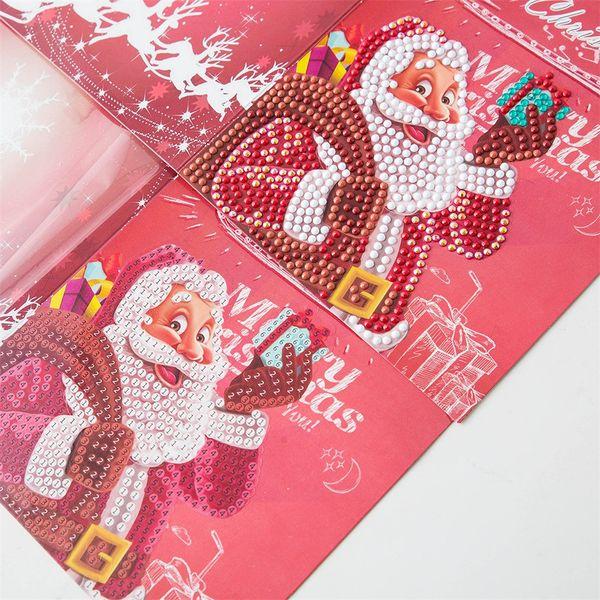 4pc Diy Специальные Алмазная Живопись Вышивка поздравительных открыток День рождения Xmas подарков Рождественские украшения T3